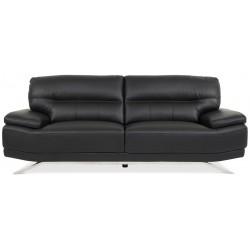 Buffalo 3 pers. sofa - Sort læder