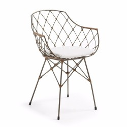 Diona stol - Brun/Hvid