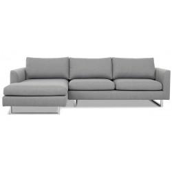 Aston chais. sofa venstrevendt - Lysegrå Inari 91