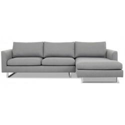 Aston chais. sofa højrevendt - Lysegrå Inari 91