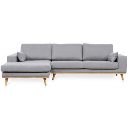 Torino chais. sofa venstrevendt - Lysegrå Inari 91