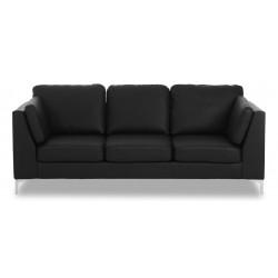 Santos 3 pers. sofa - Sort læder