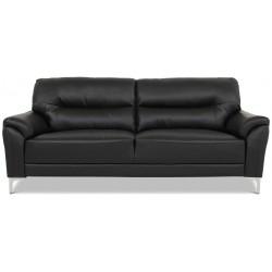 Vermont 3 pers. sofa - Sort læder