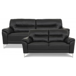 Vermont 3+2 pers. sofa - Sort læder