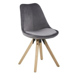 Holbæk spisebordsstol - Koksgrå/Oliebehandlet