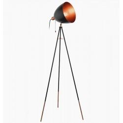 Chester gulvlampe - Sort/kobber