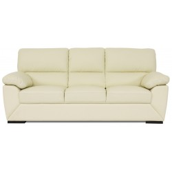 Dallas 3 pers. sofa - creme læder