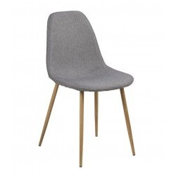 Signe spisebordsstol - Lysegrå/Eg