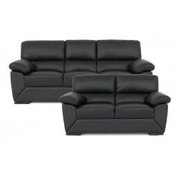 Dallas 3+2 pers. sofasæt - Sort læder