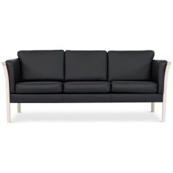 Dragør 3 pers. sofa - Sort læder