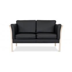 Dragør 2 pers. sofa - Sort bonded læder