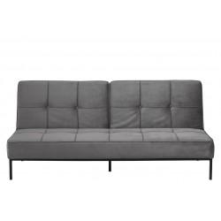 Orlanda sovesofa - Mørkegrå velour