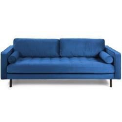 Latina 3 pers. sofa - Mørkeblå velour