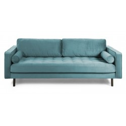 Latina 3 pers. sofa - Turkis velour