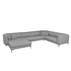 Vision U-sofa venstrevendt - Lysegrå Inari 91
