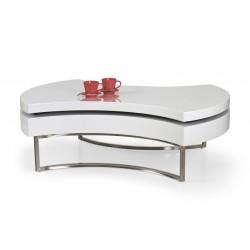 Aurea sofabord Hvid/Hvid højglans
