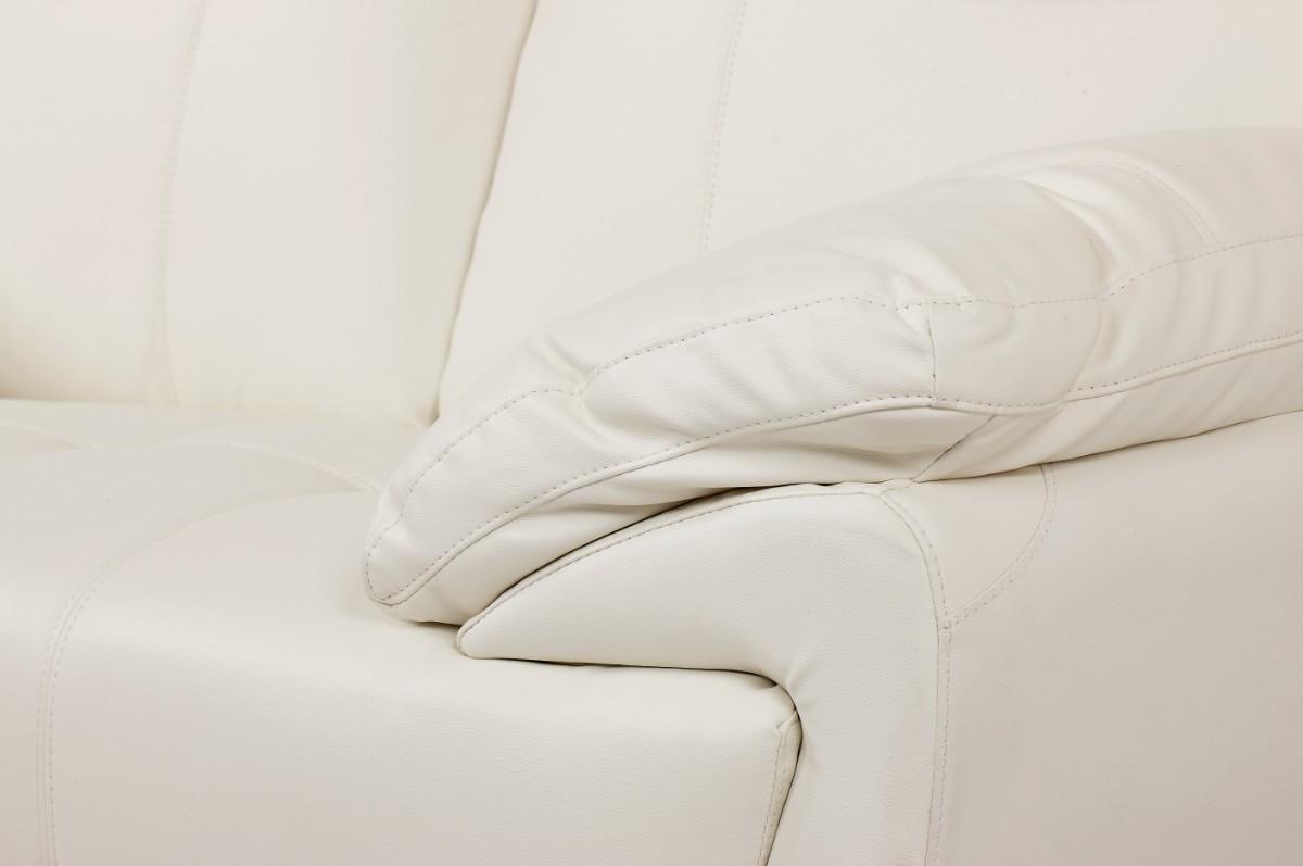 Brugt Hvid Laedersofa Med Chaiselong Sofa Bulgarmark Com