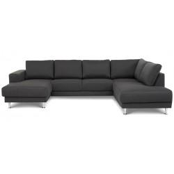 North U-sofa venstrevendt m. champagneben - Grå Inari 96