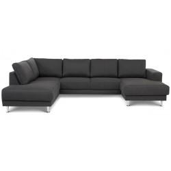 North U-sofa højrevendt m. champagneben - Grå Inari 96