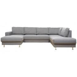 North U-sofa venstrevendt m. champagneben - Lysegrå Inari 91