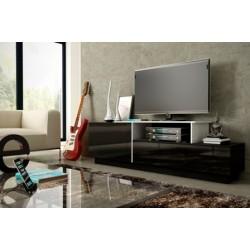 Sigma tv-bord - Sort/Hvid
