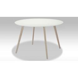 Mali Rundt spisebord hvid/eg Ø120 cm