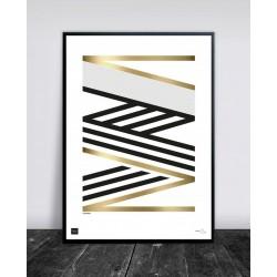 Buus Works Plakat - Crossing Gold 50X70Cm