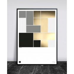 Buus Works Plakat - Squarelines 50X70Cm