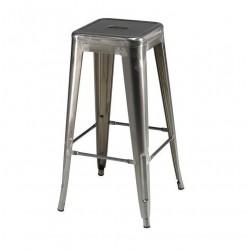 Korona barstol i grå malet lakeret stål