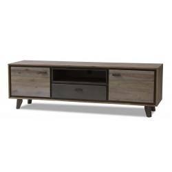 MALAGA TV-Bord 160 cm brun / grå akacie træ
