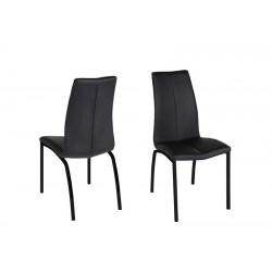 Asamma spisebordsstol sort med stel i metal sort