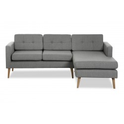 Novelty ch. sofa højrevendt - Lysegrå Inari 91