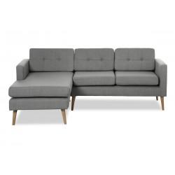 Novelty ch. sofa venstrevendt - Lysegrå Inari 91