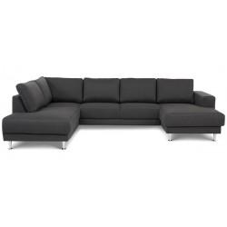 Signe U-sofa Højrevendt Antracit Inari 95