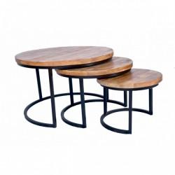 IronWood sofabord sæt triole