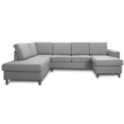 Pan U-sofa lysgrå Højrevendt