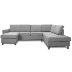 Pan U-sofa lysgrå venstrevendt