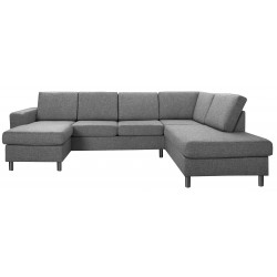 Pan U-sofa mørkegra venstrevendt