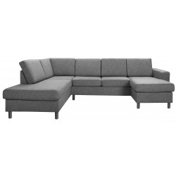 Pan U-sofa mørkegra højrevendt