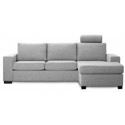 Detroit Chaiselong sofa lysgrå vendbar