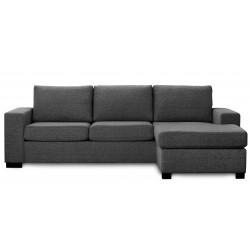 Detroit Chaiselong sofa mørkegrå vendbar
