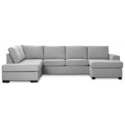 Detroit U-sofa Højrevendt lysegrå