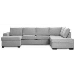 Detroit U-sofa venstrevendt lysegrå
