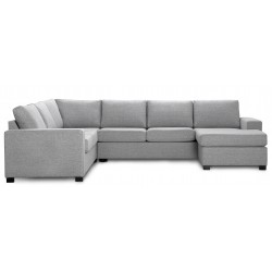 Detroit vendbar U-sofa lysegrå