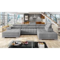 CAMPO U-sofa grå Højrevendt