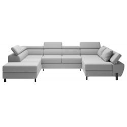 Molina U sofa højrevendt Alfa 17 stof