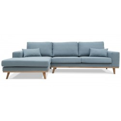 Torino chais.sofa venstrevendt - Blå Aspen 84