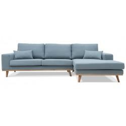 Torino chais.sofa højrevendt - Blå Aspen 84