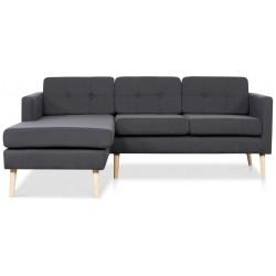 Novelty ch. sofa venstrevendt - Koksgrå Inari 95