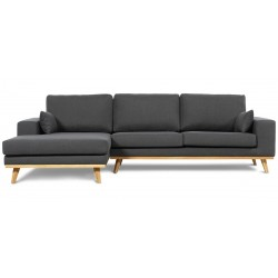 Torino chais.sofa venstrevendt - Koksgrå Inari 95